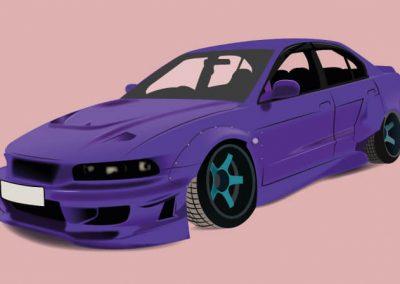 Autó illusztráció