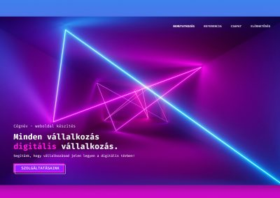 Synthwave Weboldal